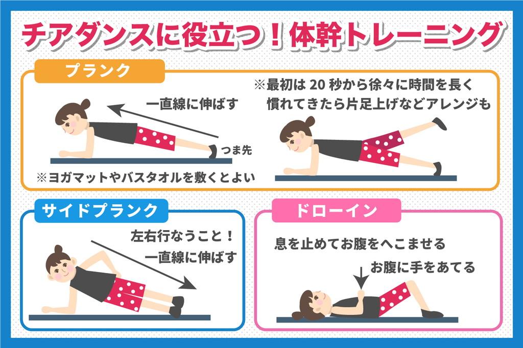 チアダンスにも筋トレが不可欠!体幹を鍛えるトレーニング方法