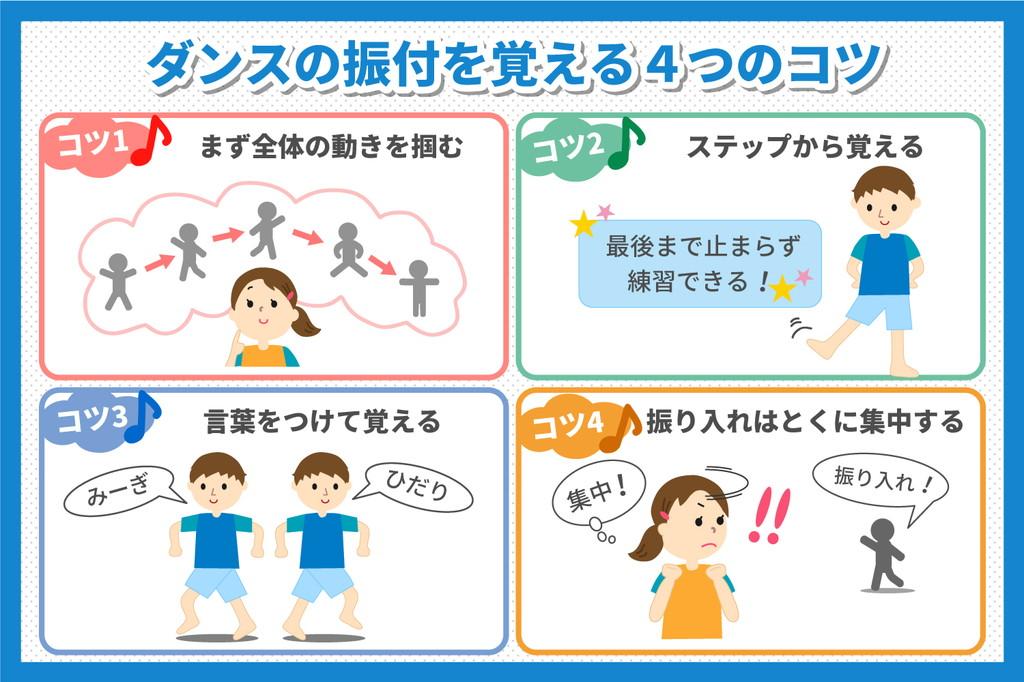 ダンス振付の簡単な覚え方4つのコツを分かりやすく解説