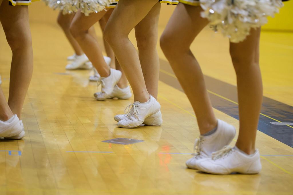 チアダンスの練習